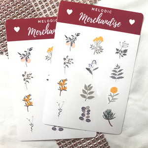 Fall Flowers Sticker Sheet
