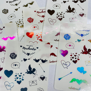 Valentine's Day Foiled Sticker Sheet