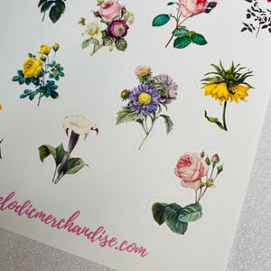 Roses Sticker Sheet