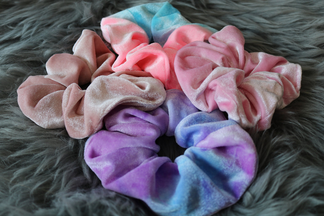 Tie Dye Velvet Scrunchie Bundle ✨