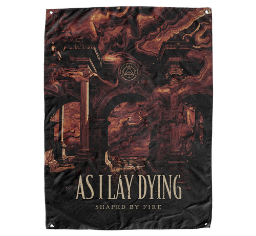 As I Lay Dying - Shaped By Fire Flag