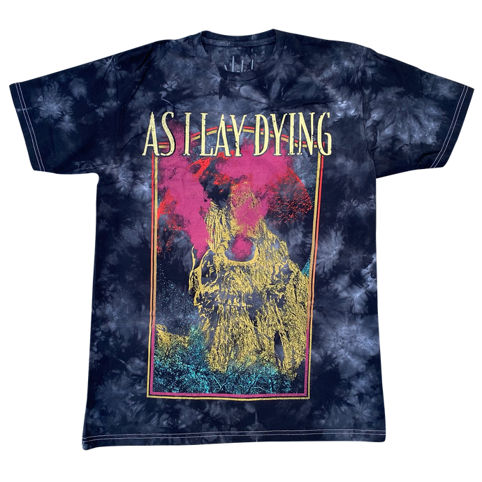 AS I LAY DYING - TYE DYE SKULL TEE