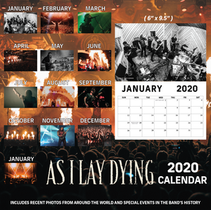 AS I LAY DYING - 2020 CALENDAR