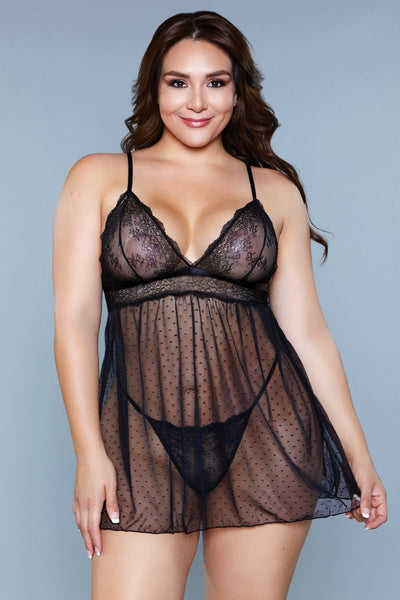 Hailey Babydoll Black