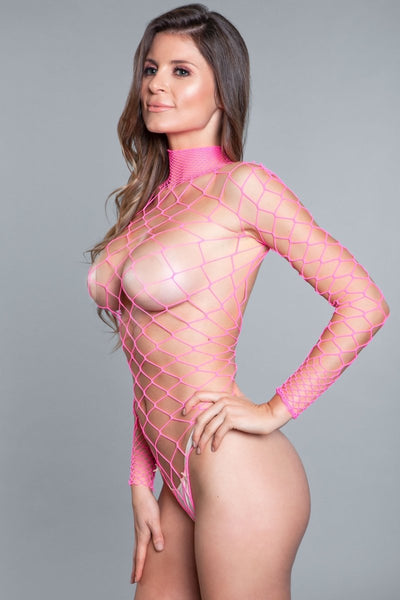 Dancing All Night Bodystocking Hot Pink