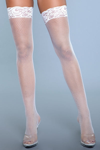 Kiss Goodnight Thigh Highs White