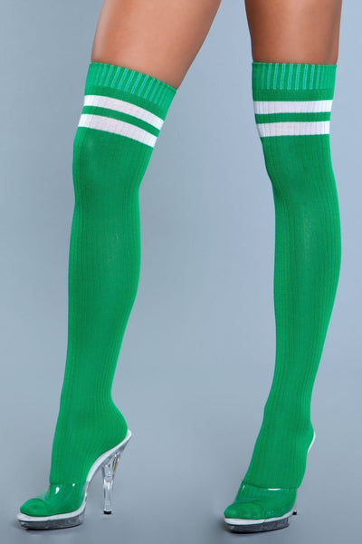Going Pro Thigh Highs Green