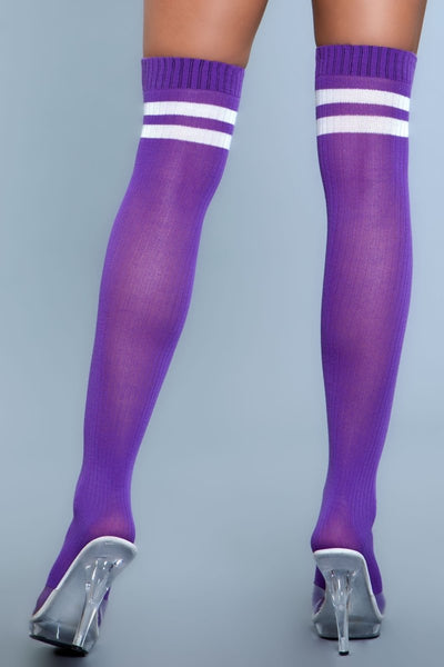 Going Pro Thigh Highs Purple