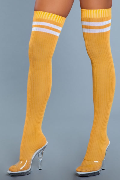 Going Pro Thigh Highs Yellow