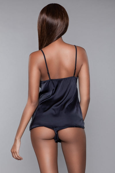 Luna Cami and Short Set Black