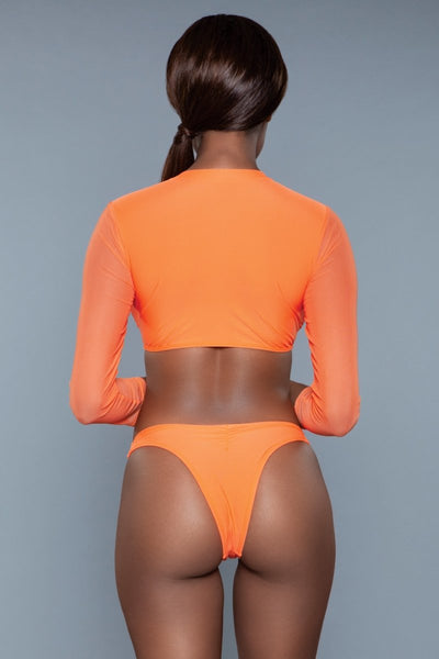 Cardi 2 Piece Swimsuit Orange