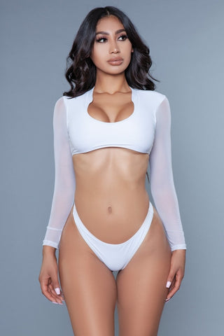 Cardi 2 Piece Swimsuit White