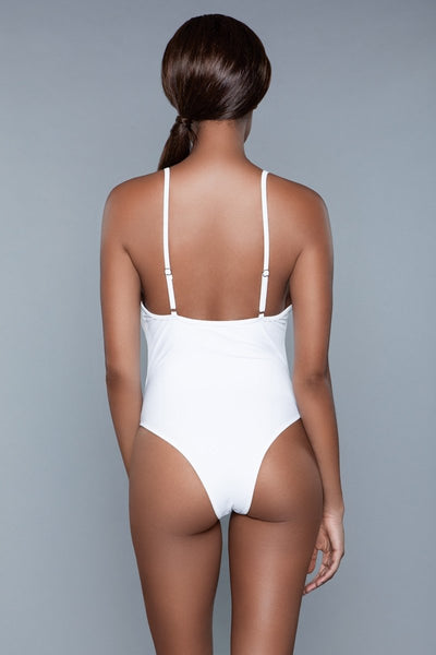 Delaney One Piece Swimsuit White