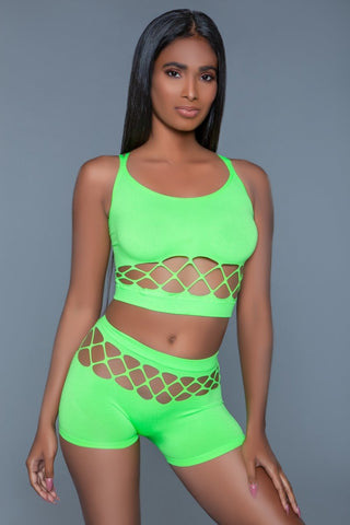 Neon Green Palmer Short and Top Set