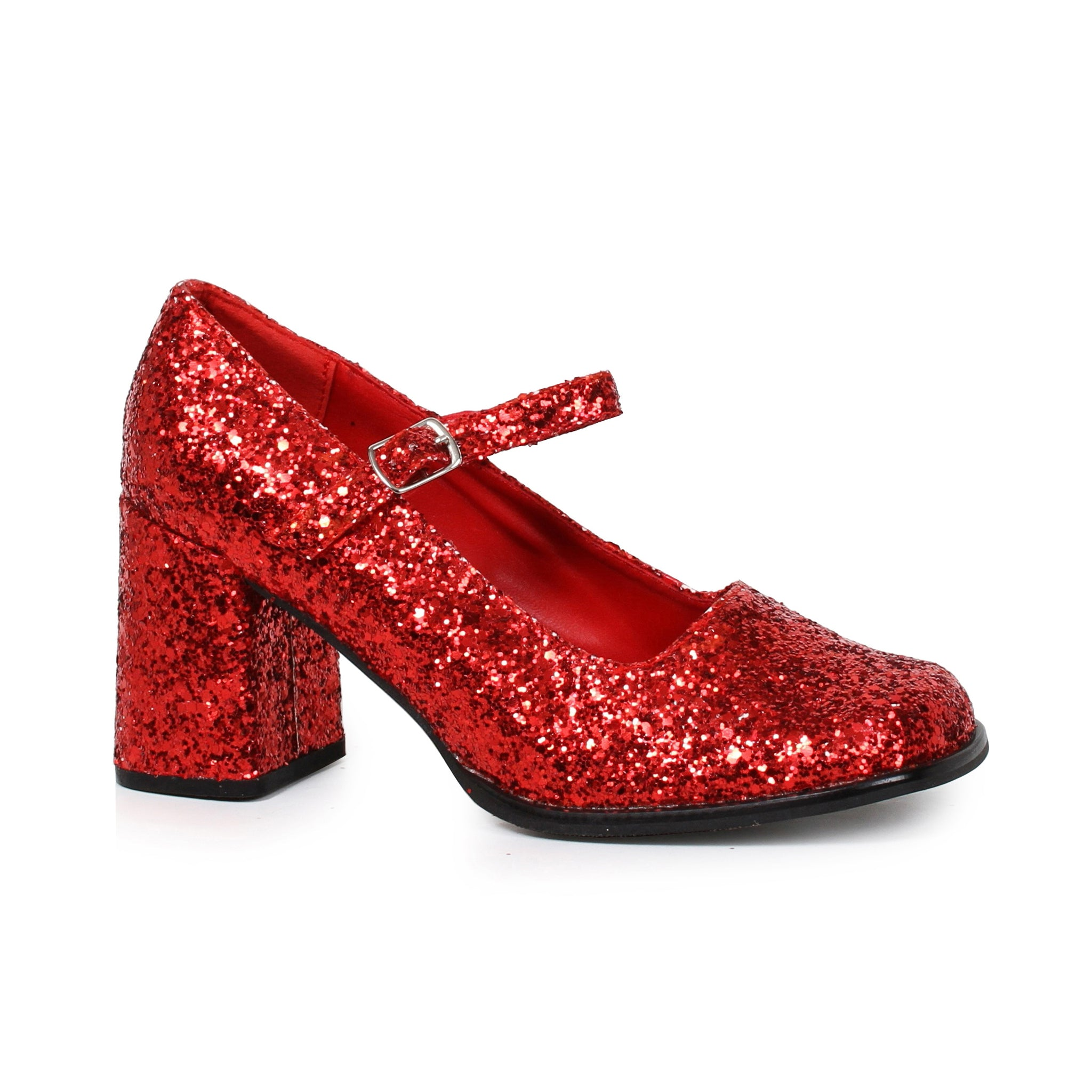 3 Heel Mary Jane Glitter Shoes