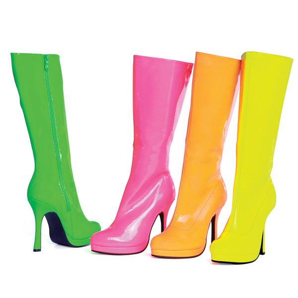 "4"" Heel Knee High Boot Neon. Women"