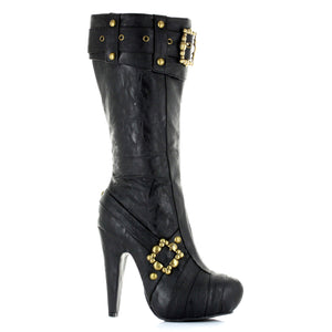4 Knee High Steampunk Boots With Buckles And Studs