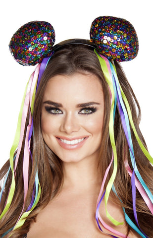 Multi Sequin Head Piece
