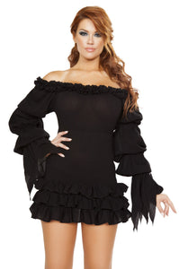 Ruffled Pirate Dress with Sleeves & Multi Layered Skirt