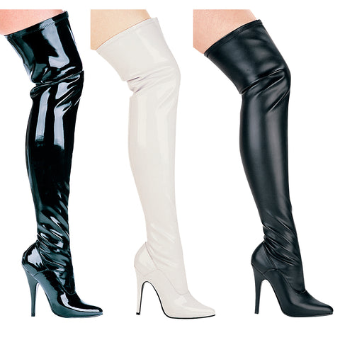 5 Heel Thigh High Stretch Boot
