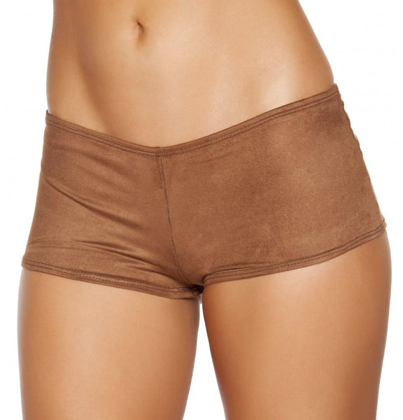 Brown Suede Boy Shorts