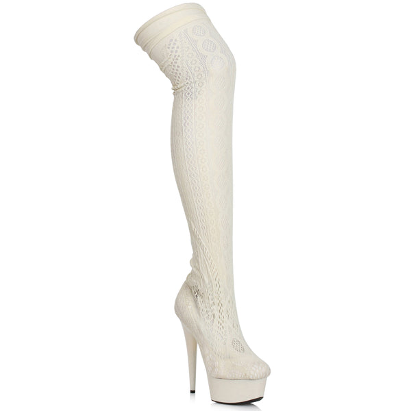 6 Stiletto Stocking Thigh High Boot
