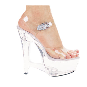 6 Heel Clear Wedge Sandal