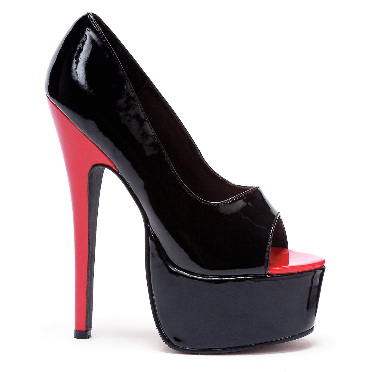 6.5 Stiletto Heel Open Toe Pump