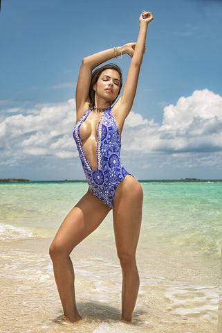 Mediterranean One Piece Swimsuit