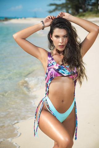 Caribbean Nights Cut Out Monokini