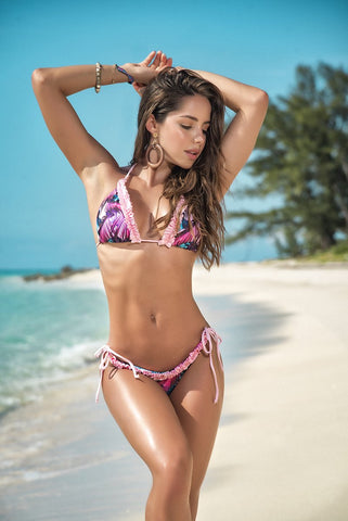 Pink Caribbean Nights Thong Bikini