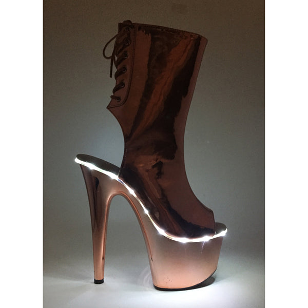7 Heel Ankle Boots With Led Platform