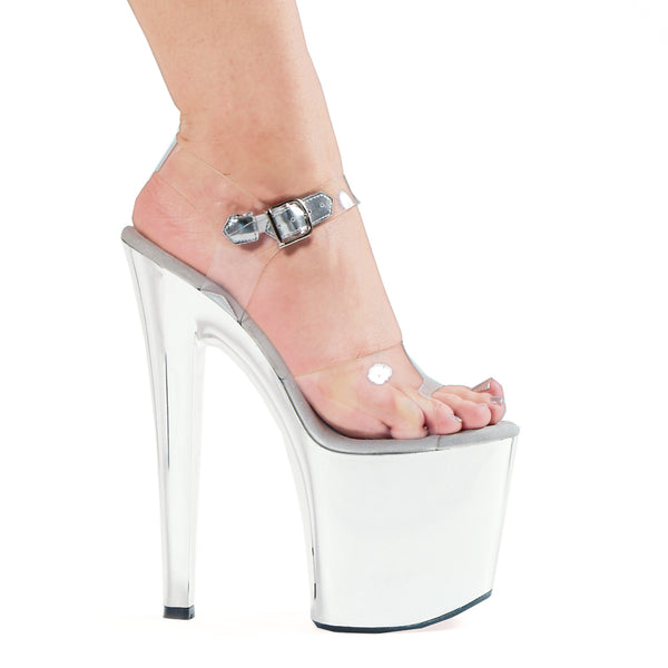 7 Heel Chrome Sandal