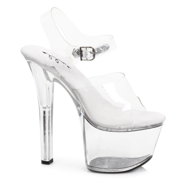 7 Heel Clear Bottom Sandal