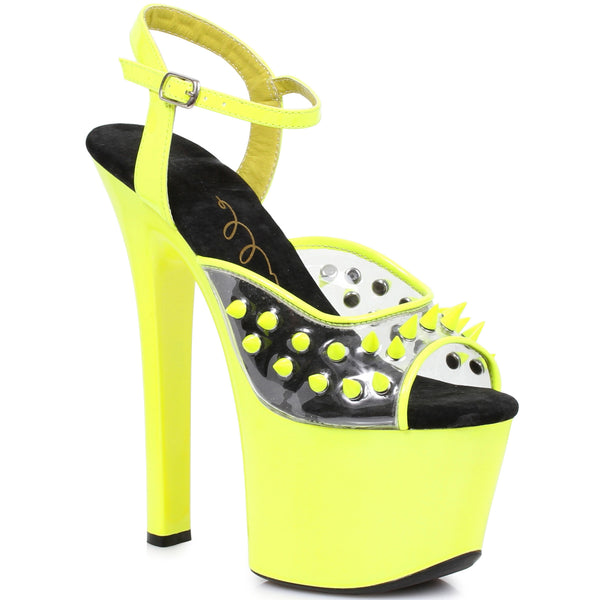 7 Heel Neon Platform Blacklight Reactive Spikes