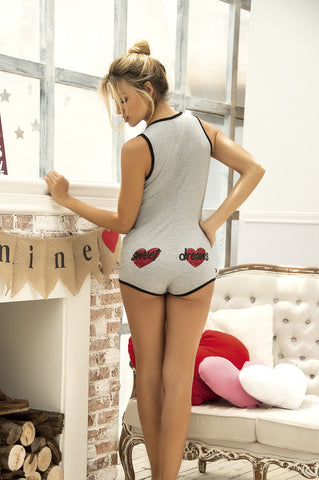 Sweet Dreams Hearts Sleep Romper