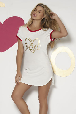 XOXO White Sleep Shirt