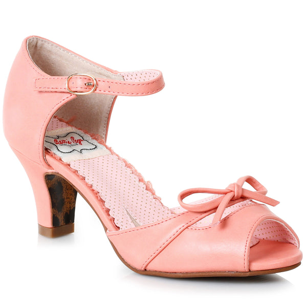 2 Peep Toe Sandal With Bow Detail