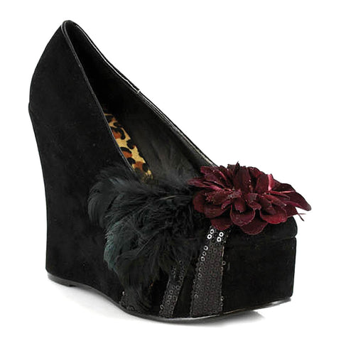 4.5 Heel Wedge With Feather