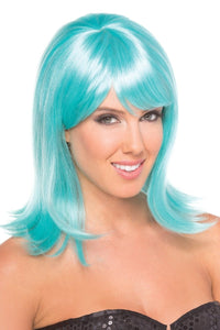 Doll Wig Light Blue