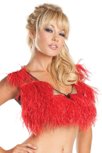 Ostrich Feather Top