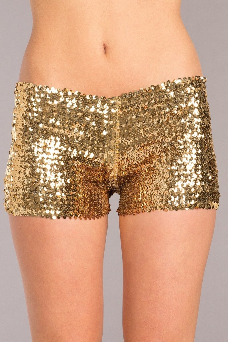Sequin Booty Shorts Gold