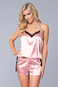 Jasmina Satin Cami & Short Set Candy Pink