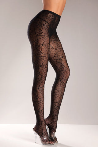 Black SpiderWeb Pantyhose