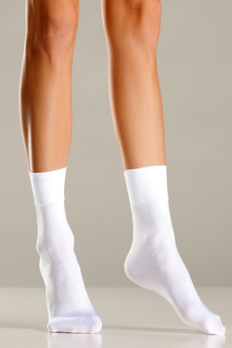White Nylon Ankle Socks
