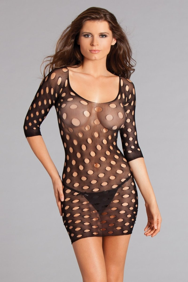 Polka Dot Mesh Bodystocking