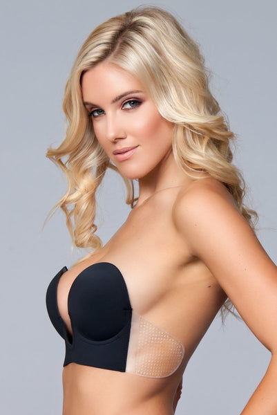 Black Deep V Bra