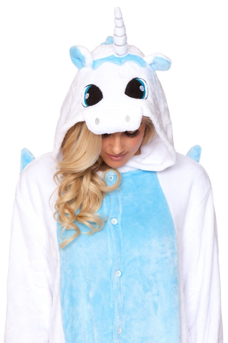 WHITE UNICORN Adult Onesie