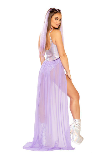 Lavender Sky Harness Skirt