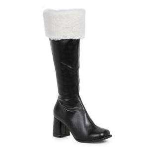 3 Heel Gogo Boots With Fur